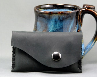 Curvy Handmade Leather Card Holder