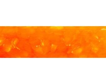 """Orange Crush Acrylic. #16 1 pc Pen Blank Short 3/4"""" x 3-3 7/8"""" ks,"""