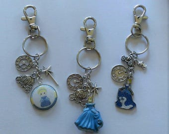 CLEARANCE YOU CHOOSE Cinderella Backpack Clip/Purse Charm/Keychain