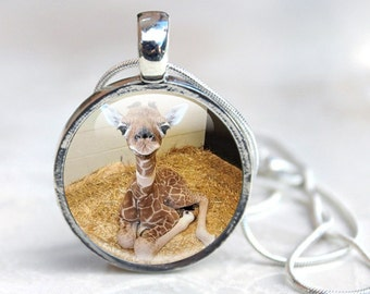 Giraffe Necklace - Giraffe Pendant- Giraffe Gifts - Baby Giraffe Necklace - Giraffe Jewellery