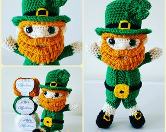 LACHLAN the LEPRECHAUN Crochet Pattern - Amigurumi PDF Instant Download