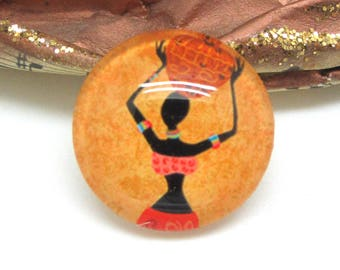 1 cabochon 25 mm glass 3-25 mm African style