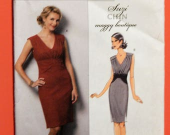 Butterick 5385 Easy to sew designer dress pattern by Suzi Chin of Maggy Boutique Uncut Sizes 14, 16, 18 and 20