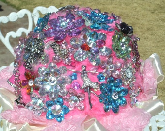 Brooch Bouquet, Springtime with a touch of pink