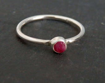 Custom raw ruby ring / rough ruby ring / July birthstone / engagement ring / natural ruby ring / untreated ruby / uncut ruby / ruby jewelry