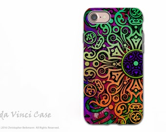 Tribal Mandala Art - Artistic iPhone 7 / iPhone 8 Tough Case - Dual Layer Protection - Tribal Transcendence by Da Vinci Case