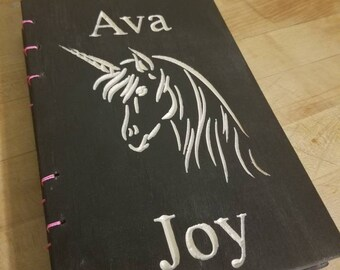 Black Unicorn Journal/note book with Name