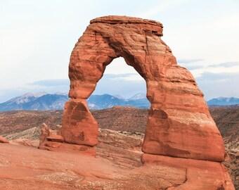Landscape Utah Photography, Delicate Arch, Arches National Park, Southwest Photo Art, Utah Canvas, Delicate Arch Wall Art, Moab Utah