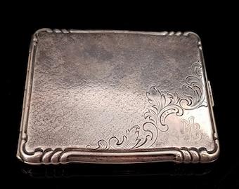 Silver-Plated Cigarette Case, ALPAKA Silver