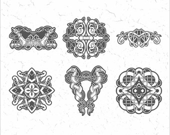Celt ornaments - Vector Clipart Collection