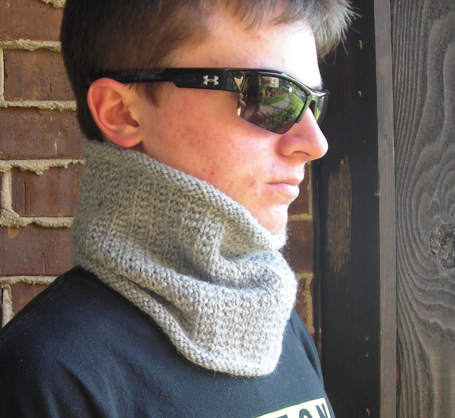 cowl neckwarmer men women PDF Knitting Pattern Wicked