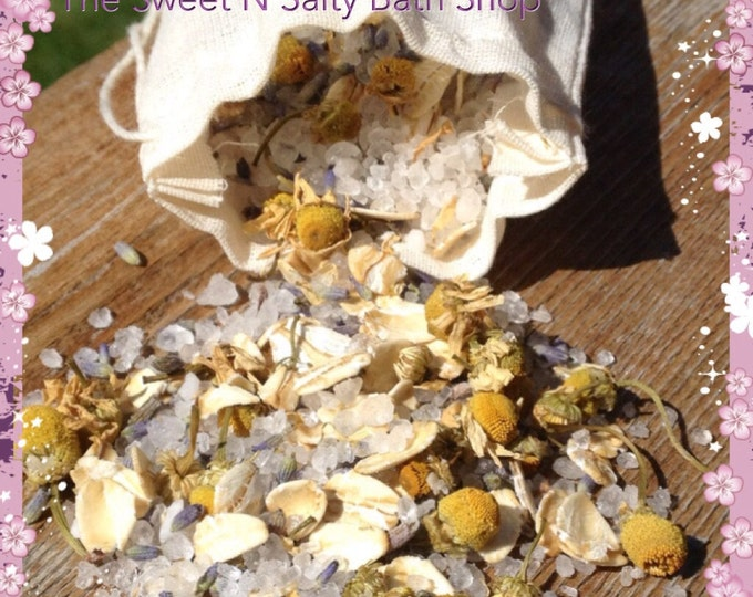 All Natural Lavender Vanilla Sea Salt Soak-Set of Three