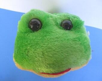 Plush Toy - Green Frog - Long Legs -unused  plushies - long legged Froggy