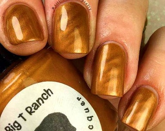 "Magnetic Nail Polish - Metallic Gold - FREE U.S. SHIPPING - ""Topaz"" - Magnet Included - Full Size 15ml Bottle"