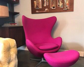 Authentic Arne Jacobsen For Fritz Hansen Egg Chair U0026 Ottoman
