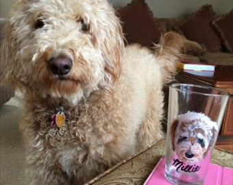 Dogs on pint glasses!
