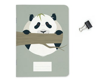"Pocket size Notebook - Panda   A6 - 4.13 x 5.83"""