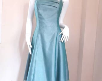 Vintage silk Taffeta Party Dress Size 9AR Small - Medium