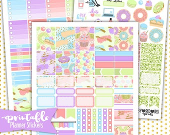 EC The Sweet Life | PRINTABLE Planner Stickers | Pdf, Jpg, and Png Format | ECLP Vertical Planner Stickers