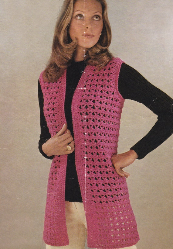 Womens waistcoat pdf vintage crochet pattern sleeveless waistcoat womens waistcoat pdf vintage crochet pattern sleeveless waistcoat vest jacket pdf instant download pattern only pdf from thevintageworkbox on etsy studio dt1010fo