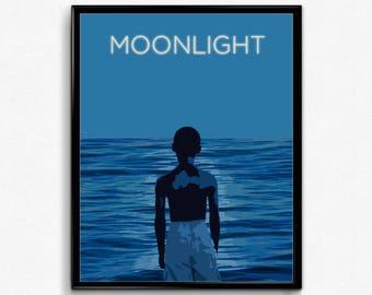 Moonlight Minimalist Movie Poster- Wall Art Decor