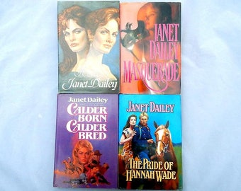 Janet Dailey Vintage Set of Four Hardcover Romance Novels