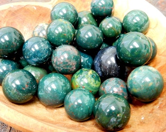 Bloodstone Agate Sphere Ball-- Round Bloodstone Agate Stone - Reiki - Metaphysical - Crafting - Crystal Grids  (RK163B5-04)
