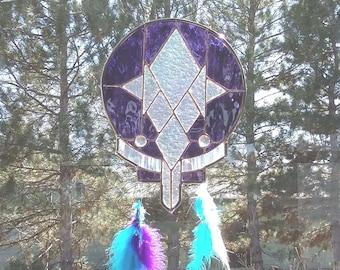 Stained Glass Purple Haze Dreamcatcher
