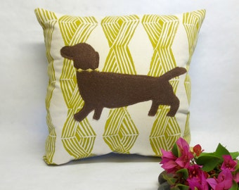 Decorative Dachshund Pillow - Decorative Dachshund Doxie Pillow