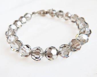 Silver crystal bracelet - Swarovski crystal - silver bracelet