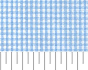High Quality Fabric Finders Blue Gingham