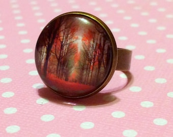 Autumn Scenery Ring / Fall Scenery / Autumn Inspired / Falling Leaves / Orange Leaves / Fall Colors / Autumn Leaves / Fall Foliage Ring