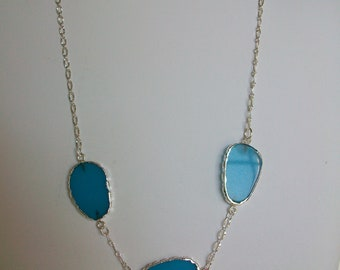 Blue Chalcedony Necklace and Earring Set