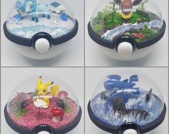 Large Pokeglobe Custom 100mm - Pokemon Terrarium