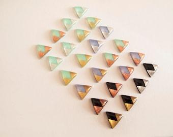 Triangle Stud Earrings - Hypoallergenic Titanium Posts