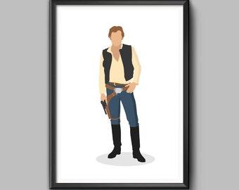 Star Wars 'Han Solo' Minimalist Art