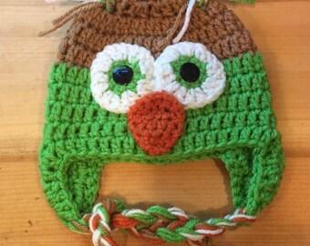 Newborn Baby Ow Woodland Critter l Hat