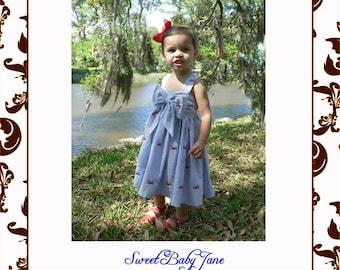 Sweet Baby Jane Sun Dress ePattern size 6m-14
