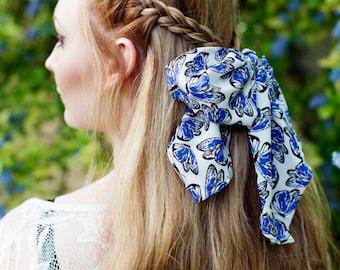 Butterfly Headband, Butterfly Headscarf, Butterfly Head Wrap, Summer Hair Scarf, Butterfly Hair Accessory