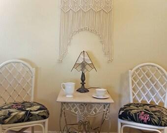 "Macrame Wall Hanging Headboard Window Curtain Bohemian Boho Wall Art ""Harmony"""
