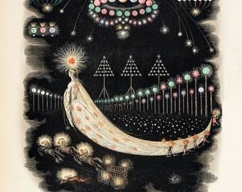 "J. J. Grandville : ""Peregrinations of a Comet"" (1844) - Giclee Fine Art Print"