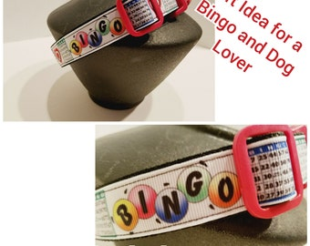 Bingo - Dog Collar - Bingo Lover Gift - Dog Gifts - Dog Leash