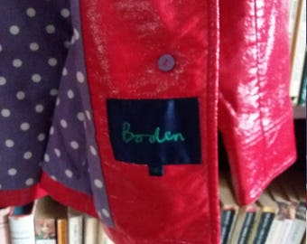 Beautiful Boden Jacket Sz 10, pillarbox red