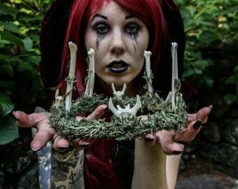 Animal Bone & Moss Wreath