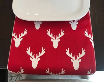 Red Christmas Table Runner | reindeer Table Runner | Christmas Table Runner | Christmas Centerpiece | Christmas Table Decor