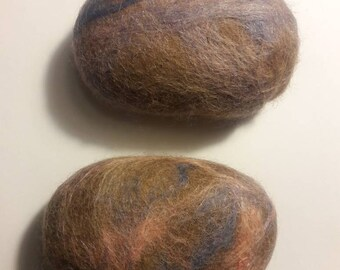 Lavender Felted Alpaca Soaps