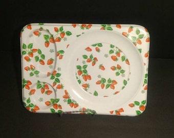 Vintage Strawberry Dinner Trays