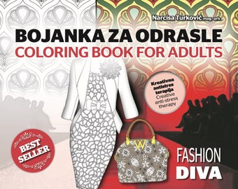 Coloring book for adults Fashion diva