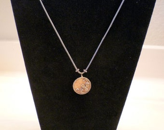 Hand made Necklace with Antique Button Accent