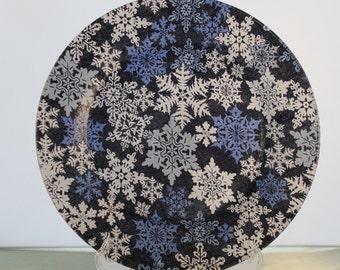 Decorative Christmas Snowflake Plate